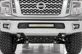 nissan sentra front bumper 20 inch dual row cree led bumper kit for 16 17 nissan titan xd