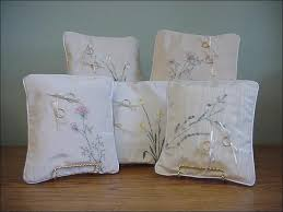 wedding pillow rings embroidered wedding ring pillows one of a by bertha day