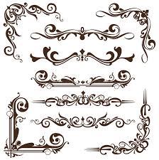 vector vintage ornaments corners borders stock vector image