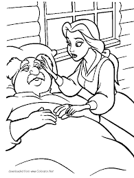 80 beauty beast coloring pages maurice beauty