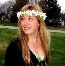 70s hair accessories hippie hair wreath chain flower crown 70s flower child