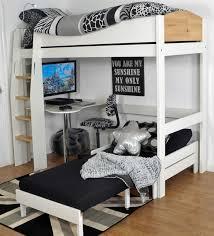 White High Sleeper Bed Frame High Sleeper Bed White Birch Avenue 2