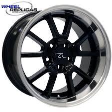 17x10 mustang wheels fr500 17x10 5 black replica mustang wheel