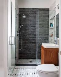 bathroom elegant black ceramic wall shower screen on small