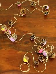 pretty pine cone garlands how wee learn
