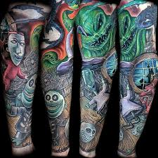 Nightmare Before Christmas Room Decor 100 Nightmare Before Christmas Tattoos For Men Design Ideas
