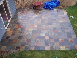 Patio Concrete Tiles Patio Ideas Rubber Patio Paver Tiles With Concrete Pattern Rubber