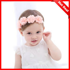 baby flower headbands hot new baby flower headband pink ribbon hair bands handmade diy