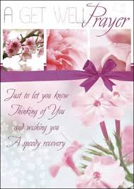 get well card with insert a get well prayer religious christian