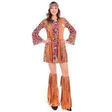 60 U0027s Groovy Hippie Costume Flower Power Disco Costume Ladies