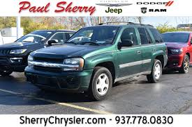 jeep dark green 2003 chevrolet trailblazer ls cp15393bt paul sherry chrysler