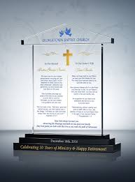50th anniversary gifts traditional pastoral anniversary gift plaque pastor anniversary gifts and