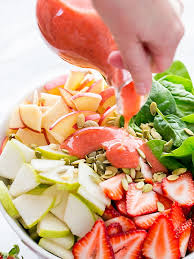 vegetarian salad with strawberry vinaigrette dressing u2013 healthy
