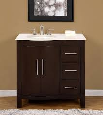 Bathroom Sinks And Cabinets by 36 Inch Marble Top Bathroom Vanity Off Center Left Side Sink