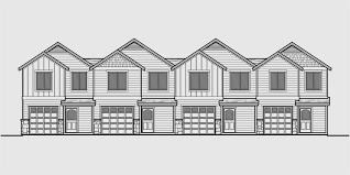 three plex floor plans house front color elevation view for f 550 fourplex plans 4 plex