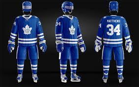 ice hockey nhl toronto maple leaves uniform psd photoshop template
