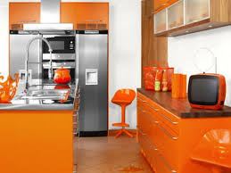 orange kitchen cabinets appealing orange kitchen cabinets with large stand floor