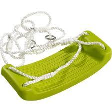 balancoire siege siège balançoire enfant vert avec cordes max 70kg pour portique