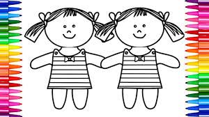 how to draw dolls coloring pages dolls nursery rhymes song 5