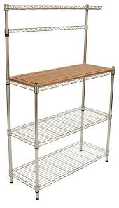 Sei Bakers Rack Ecostorage Bamboo Baker U0027s Rack Transitional Baker U0027s Racks By