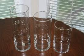 Cylinder Floating Candle Vase Set Of 3 Vintage Princess House Set Of Three 3 Crystal Cylinders Vases