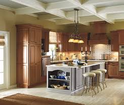 best color to paint kitchen with cherry cabinets cherry cabinets with a painted kitchen island masterbrand