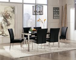 Modern Dining Room Sets For 6 Modern Formal Dining Room Set Glass Chairs Futuristic And Modern