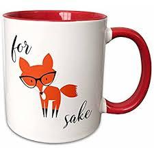 amazon com oh for fox sake white mug coffee cups u0026 mugs