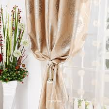 modern simple toile home curtains with grommet top
