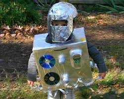 Robot Halloween Costume Diy Cardboard Box Robot Halloween Costume Inhabitots