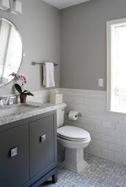 Gray And Blue Bathroom Ideas - white and blue bathroom with gray marble arabesque wall tiles