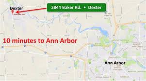 Ann Arbor Zip Code Map by Dexter Mi