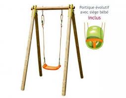 balancoire siege bebe achat portique en bois évolutif 1 personne siège bébé inclus