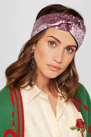 silk headband gucci twisted squined tulle and silk satin headband net a