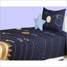 Space Bed Set Solar System Bedding Outer Space 3pc Comforter Set Navy Blue