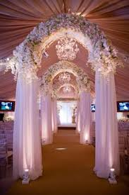 David Tutera Fairy Lights Soft White Fabric Billowing From The Ceiling A David Tutera
