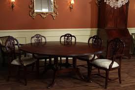 Solid Mahogany Dining Table Carved Harrisburg Shieldback