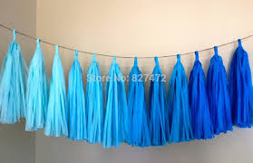 40sheets 14 mixed blue color tissue paper tassels garland diy
