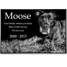 dog grave markers granite photo pet grave marker 2 thick
