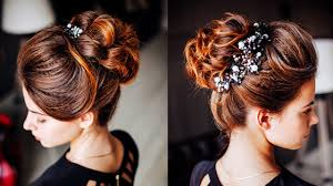 easy hairstyle messy bun with ponytale long lenght updo for