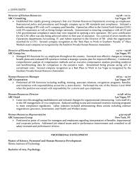 Sample Human Resource Resume by Director Of Human Resources Resume