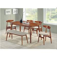 Modern Dining Room Table With Bench Mid Century Modern Dining Table And Chairs Fice Mid Century Modern