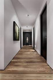 home floor and decor modern with black doors and and horizontal medium wood