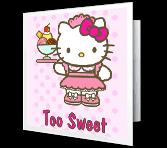 hello kitty cards print free at blue mountain