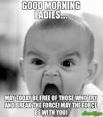 Good Morning Ladies Meme - good morning ladies may today be free of those who try and break