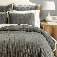 Beige Coverlet Lucca Velvet Stitched Quilted Bedding Ballard Designs