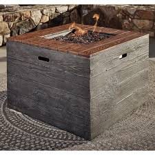 square fire pits designs signature design by ashley hatchlands square fire pit table