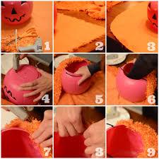 plastic halloween bags no sew thrifted fabric ideas pumpkins pumpkins everywhere
