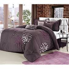 Plum Bed Set Chic Home Chiela Oversized And Overfilled 8 Pcs