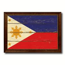 philippine home decor philippines country flag vintage canvas print with brown picture